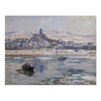 Vetheuil en Hiver Postcard