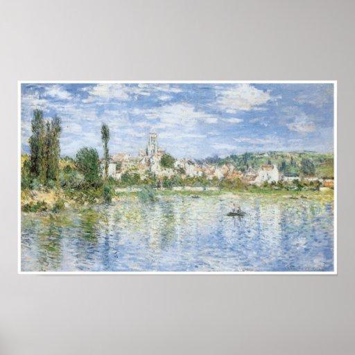 Vetheuil in Summer, 1880, Claude Monet Poster