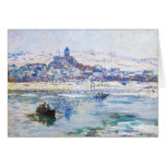 Vetheuil in Winter Claude Monet Stationery Note Card