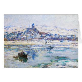 Vetheuil in Winter Claude Monet Card