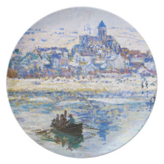 Vetheuil in Winter Claude Monet Dinner Plate
