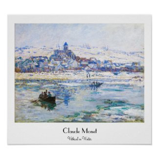 Vetheuil in Winter Claude Monet Poster