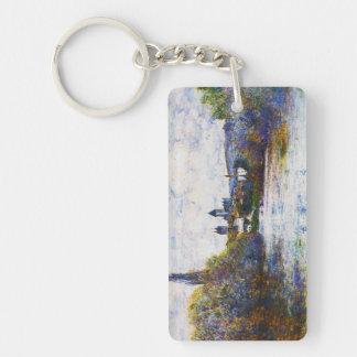 Vetheuil, la arma ligera del Sena Claude Monet Llavero Rectangular Acrílico A Doble Cara