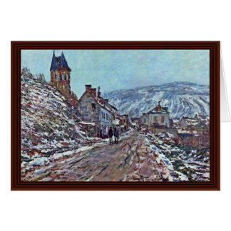 Vétheuil Road In Winter By Claude Monet Greeting Card