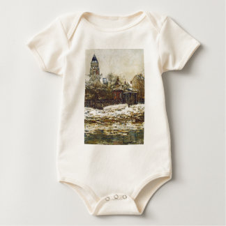 Vetheuil, The Church in Winter by Claude Monet Baby Bodysuit
