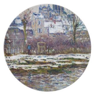 Vetheuil, the Church, Snow Claude Monet Plate