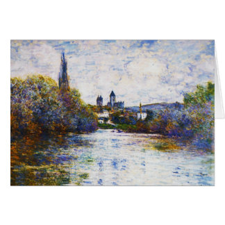 Vetheuil, The Small Arm of the Seine,  Claude Mone Stationery Note Card