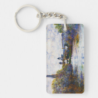 Vetheuil, The Small Arm of the Seine,  Claude Mone Keychain