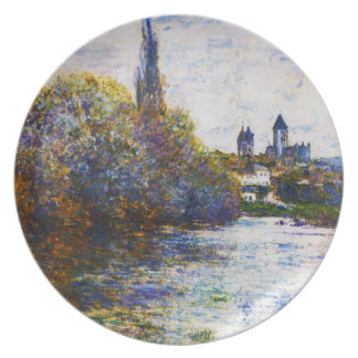 Vetheuil, The Small Arm of the Seine,  Claude Mone Dinner Plates