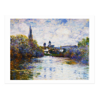 Vetheuil, The Small Arm of the Seine,  Claude Mone Postcard