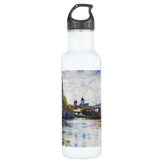 Vetheuil, The Small Arm of the Seine,  Claude Mone Stainless Steel Water Bottle