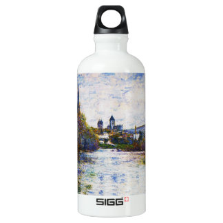 Vetheuil, The Small Arm of the Seine,  Claude Mone Water Bottle