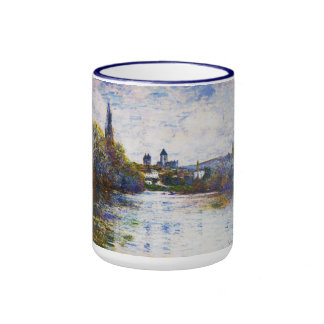 Vetheuil, The Small Arm of the Seine Claude Monet Ringer Coffee Mug