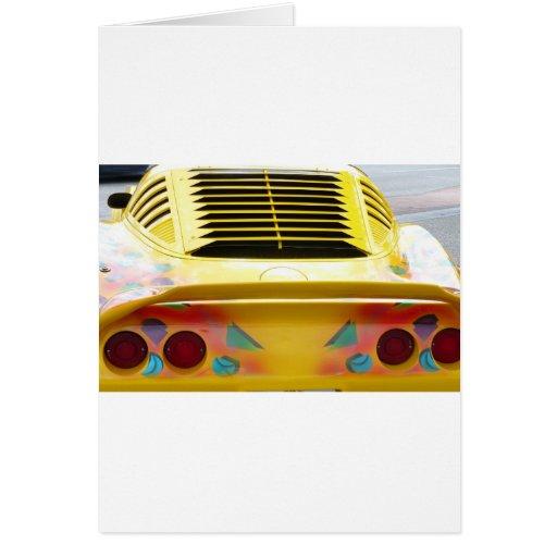 Vette amarillo tarjeta de felicitación