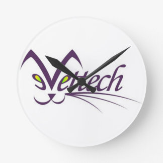 Vettech round wall clock white