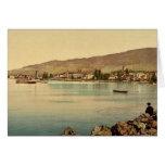 Vevey, the quay, Geneva Lake, Switzerland classic Cards