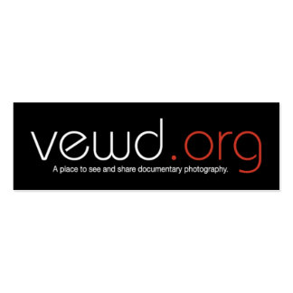 Vewd Media Photographer Card - Skinny Double-Sided Mini Business Cards (Pack Of 20)