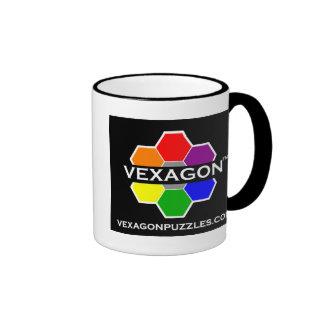 Vexagon Puzzles Coffee Mug 1 (Color on Black)
