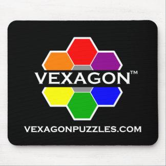 Vexagon Puzzles Mousepad 1 (Color on Black)