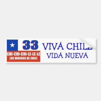 VEXX Chile 33 Bumper Sticker