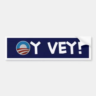 vey oy de obama pegatina para auto