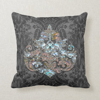 Veyla Joy Elegant Goth Throw Pillow