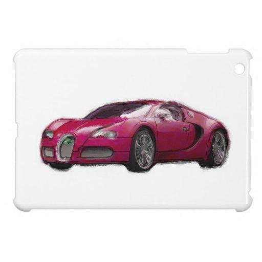 Veyron Car Hand Painted Art Brush iPad Template iPad Mini Covers