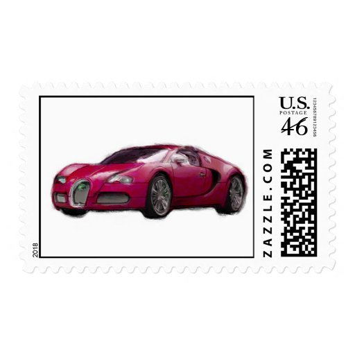 Veyron Car Hand Painted Art Brush Stamp Template