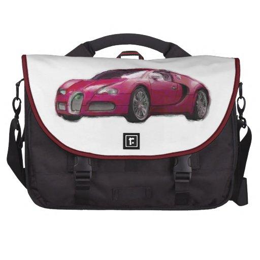 Veyron Sports Car Hand Painted Art Laptop Bag