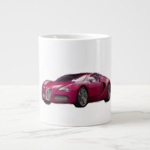Veyron Sports Car Hand Painted Art Template Mug Jumbo Mug