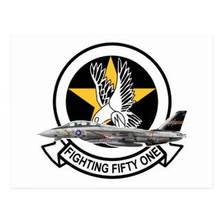vf51 Screaming Eagles f14 Postcard
