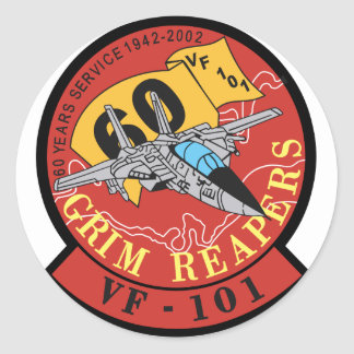 VF-101 Grim Reapers Classic Round Sticker