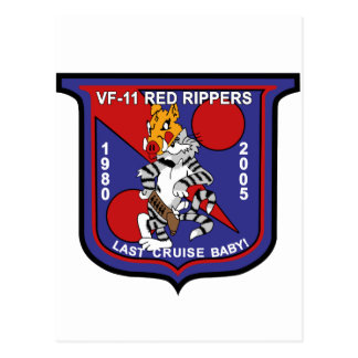 vf-11 Red Rippers Postcard