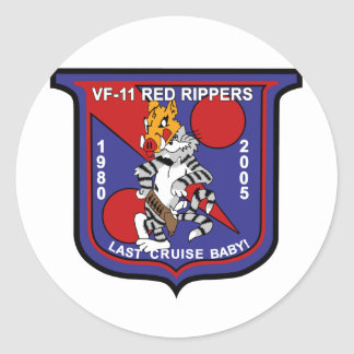 vf-11 Red Rippers Round Stickers