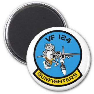 VF-124 Gunfighters Sticker 2 Inch Round Magnet