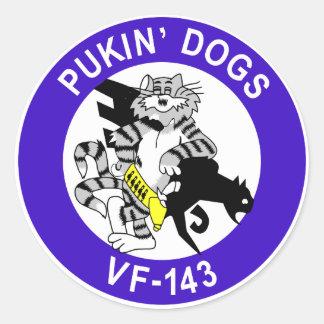 VF-143 Pukin' Dogs Classic Round Sticker