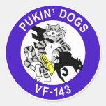 VF-143 Pukin' Dogs Round Stickers