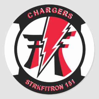 VF-161 Chargers Classic Round Sticker