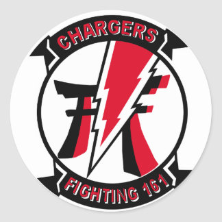 VF-161 Chargers Squadron & F-4 Phantom Classic Round Sticker