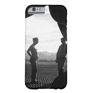 VF-17 ground crewmen await word to_War Image Barely There iPhone 6 Case