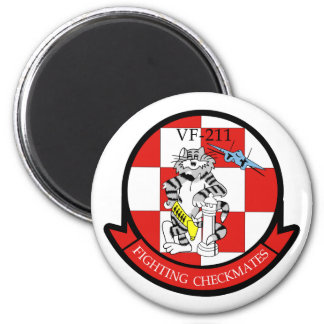 VF-211 Fighting Checkmates 2 Inch Round Magnet