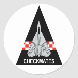 VF-211 Fighting Checkmates Classic Round Sticker