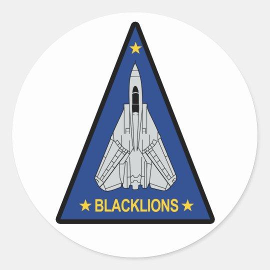 VF-213 Blacklions Classic Round Sticker