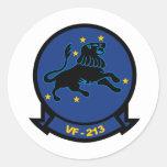 VF-213 Blacklions Etiquetas Redondas