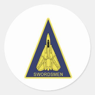 VF-32 Swordsmen F-14 トムキャット VF-32 スォーズメン Classic Round Sticker