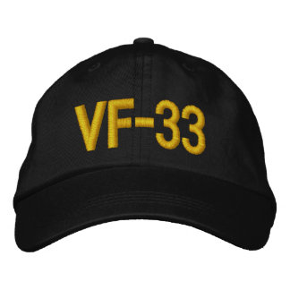 VF-33  Hat Embroidered Baseball Caps