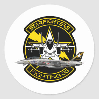 VF-33 Starfighters F-14 トムキャット VF-33 ターシアーズ Classic Round Sticker