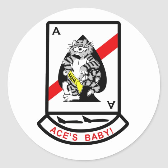 VF-41 Black Aces Classic Round Sticker