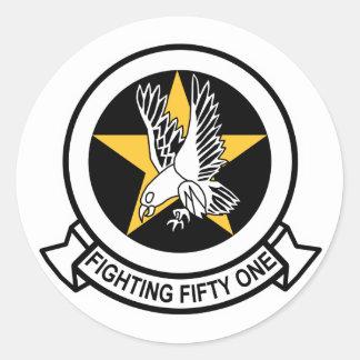 VF-51 que grita a Eagles Pegatina Redonda