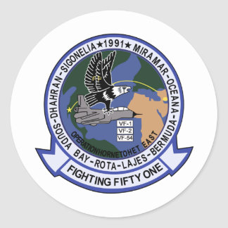VF-51 Screaming Eagles Classic Round Sticker